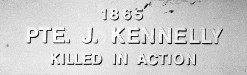 Image of plaque on tree S136 for James Kennelly