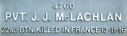 Image of plaque on tree N187 for John McLachlan