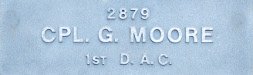 Image of plaque on tree N169 for george Moore